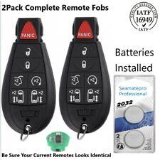 2 Uncut Keyless Remote Key Fob for 2008-2014 Dodge Grand Caravan  M3N5WY783X