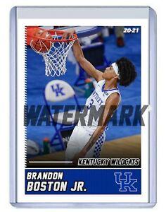 BRANDON BOSTON JR. KENTUCKY WILDCATS 2020-2021 CUSTOM BASKETBALL CARD COLLEGE BJ