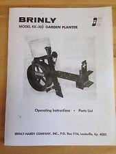 Brinly Sleeve Hitch KK-305 1 Row Planter Manual Garden Tractor Mower CC JD KK305