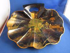 ancienne corbeille coquille japon papier maché carton bouilli doré napoleon III