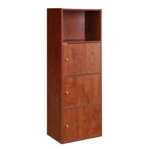 Convenience Concepts Xtra Storage 3 Door Cabinet, Cherry - 151188CH