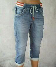 ♥ So bequem! JEWELLY Jogging Capri Joggpants Jeans Baggy Shorts Bermudas *91