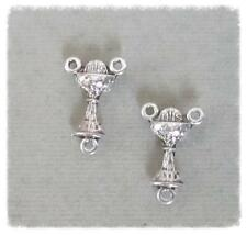Lot 2 small CHALICE Rosary Center 1st First Communion Rosaries T118 finsh Silver