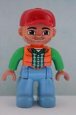LEGO DUPLO 10584 Figur Wärter / Mann / Vater / Papa mit Bart aus Wildpark NEU