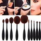 Pro Toothbrush Makeup Brush Eyebrow Oval Powder Cream Brush Foundation Brush Hot