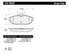 Disc Brake Pad Set-Shelby GT500 Rear Centric 103.10820 fits 2005 Ford Mustang