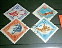 "FRANCOBOLLI STAMPS RUSSIA CCCP 1959 ""MILITARY SPORT"" USED SET (CAT.2)"