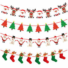 8pcs Christmas paper pull flags Christmas window hotel scene decoration bunting