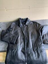 Hugo Boss Men Black Lamb Leather 4 Bottoms Jacket/Blazer LambskinSz 40R C4