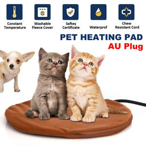 Electric Pet Heating Pad Dog Cat Heat Warming Mat Round Blanket Bed with AU Plug