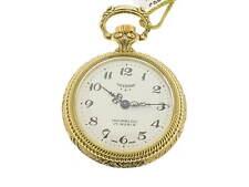 Tavernier orologio tasca plac. oro giallo con veliero smaltato / pocket watch