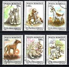 Animaux Domestiques Roumanie (185) série complète 6 timbres oblitérés