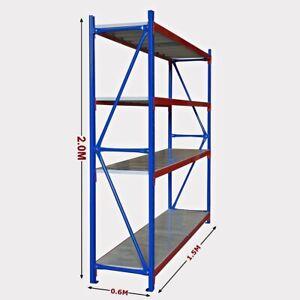 New 1.5M Warehouse Garage Metal Steel Storage Shelving Racking Bolted Range