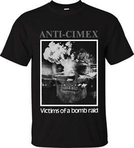 ANTI CIMEX T-Shirt Victims of a Bombraid Official Merch swedish crust punk rock