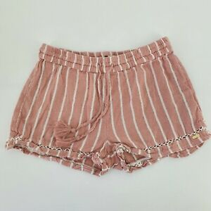 ROXY Pink Striped Summer Shorts Women's Size M/10