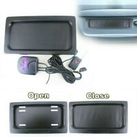 Hide-Away Shutter Cover Up Electric Stealth USA License Plate Frame Kit + Remote
