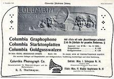 COLUMBIA GRAPHOPHONE R.E.Thallmayer (Atelier Künstlerbund) Wien Annonce 1908