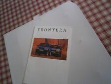 Catalogue pub auto prospectus voiture Opel Frontera