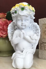Cherub Statue Garden Sculpture 8� Angel Figurine Lawn Yard Art Porch Home Decor