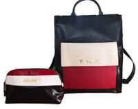 Tommy Hilfiger Colorblock Julia Coated Canvas Business Bag Tote Backpack & Pouch