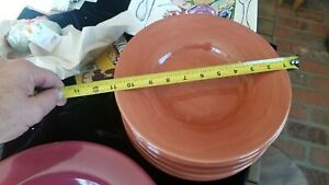 """POTTERY BARN - SAUSALITO - Spice  - 10"""" Dinner Plates. Other Colors Avail"""