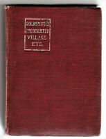 GOLDSMITH'S THE DESERTED VILLAGE AND OTHER POEMS - HARDCOVER - 1906 MACMILLAN NY