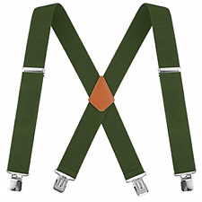 Heavy Duty Work Suspenders Hunt Adjustable 2-inch Wide New