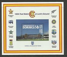 DOMINICA 2000 LORD'S CRICKET 100th CENTENARY TEST MATCH Souv Sheet MNH