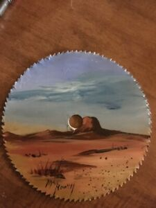 May Howell hand painted  circular saw blade