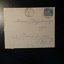 FRANCE TYPE SAGE N°97 LETTRE COVER EVREUX EURE POUR LOUGHTON ANGLETERRE