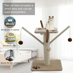 Pet Cat Tree Trees Scratching Post Scratcher Tower Condo House Bed