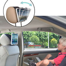 Car Headrest Mount Holder with Angle-Adjustable Clamp for Universal Tablets