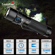 TrustFire MC3 EDC Led Taschenlampe 2500 Lumen hell mit 21700 Akku USB magnetic