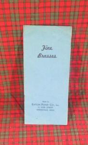 Fine Brasses 1941 Catalog, Eaton-Pond, Springfield, MA