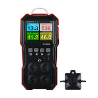 GT8220 4 Gas Detector O2 CO Monitor Combustible Gas H2S Tester mini handheld