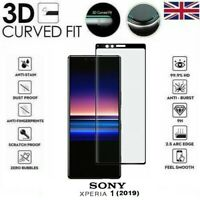For Sony Xperia 1 Genuine Full 3D Tempered Glass 9H Screen Protector Cover Black