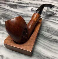 Vintage Estate Jobey Unicorn Semi Rustic Pickaxe Pipe 355-Flared Lucite Ferrule!