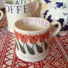 Emma Bridgewater 2015 Tulips Hedges Baby Mug New Best Discontinued