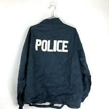 Vintage 70s Police Jacket Size XL Chino Valley Arizona Spellout Cops