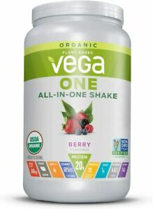 Vega One Organic Meal Replacement Plant Based Protein Powder, BERRY, 18 Servings