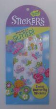 dd 40 SPARKLY GLITTER BUTTERFLY stickers Scrapbook acid free sticker reward