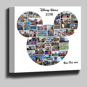 Mickey Mouse Disney shaped photo collage box framed canvas print ready to hang