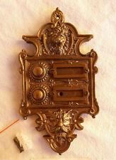 Geschenknet Antik Messing Klingel 2 Gründerzeit Klingelschild Klingelplatte K35A