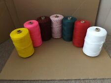 500 gm Spools of Spun Polyester for net making purse nets , gate net , ferreting