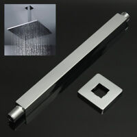 30cm Chrome Square Ceiling Extension Arm Wall Mounted For Bathroom Shower Head