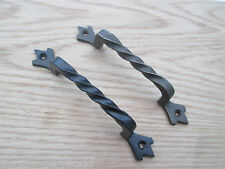 """5"""" CAST IRON KITCHEN CABINET DOOR CUPBOARD CHEST DRAWER D TWISTED PULL HANDLES"""