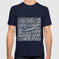 United Airlines Boeing 747 with Airport Codes - T-Shirt