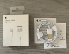New Original Apple iPhone iPad Lightning Cable 1m 3ft USB Charging Cord OEM