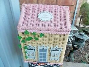 Excellent Amy's Treasures amys Wicker Storage House Box 15x11x20 Clean chest