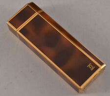 Auth Cartier Lacquer Tortoise Shell Design Pentagon 5-Sided Lighter